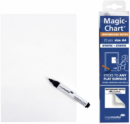 Magic-chart notes Legamaster whiteboard 20x30cm wit