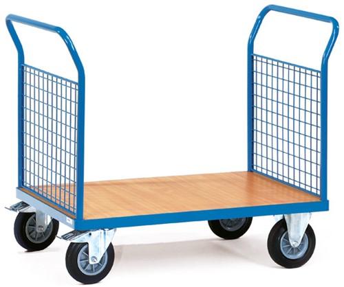 Platformwagen 1522 - 2 duwbeugels met gaas Laadvlak 1.000 x 700 mm