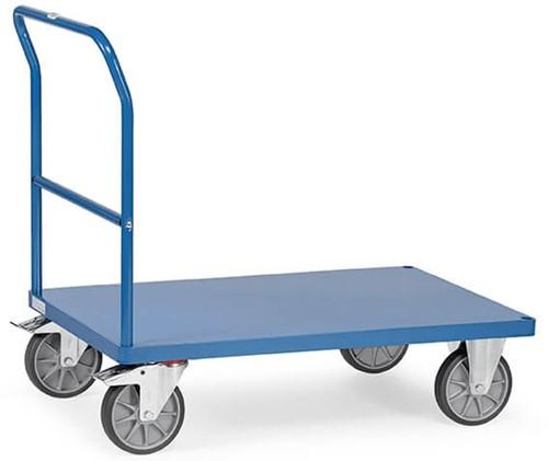 Duwbeugelwagen 2502B met platform van staal