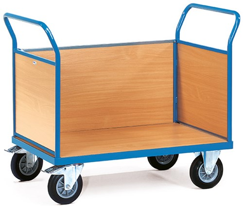 Platformwagen met 3 gesloten wanden 2530 Laadvlak 850 x 500 mm