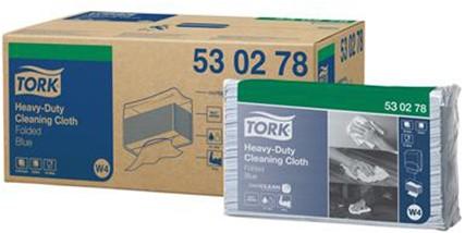 Tork Heavy-Duty Cloth Folded Blue Werkdoek Blauw